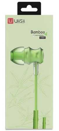 Наушники UiiSii US60 Bamboo In-ear Earphone