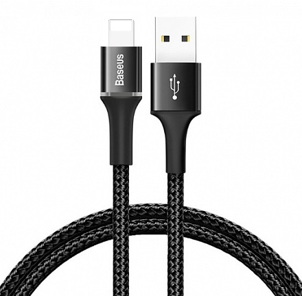 Кабель Baseus Halo Data Cable USB - Lightning 0.5м QC3.0 (CALGH-A01, CALGH-A09)