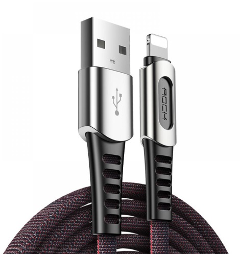 Кабель Rock Lightning Zn-Alloy Charge & Sync Cable M8 (RCB0694) USB - Lightning 1м