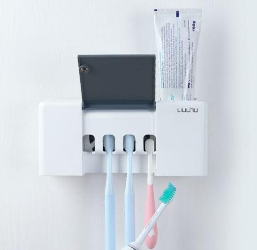 Дезинфицирующий держатель для зубных щеток Xiaomi Liulinu Sterilization Toothbrush Holder LSZWD01W купить оптом в интернет-магазине Optax.ru