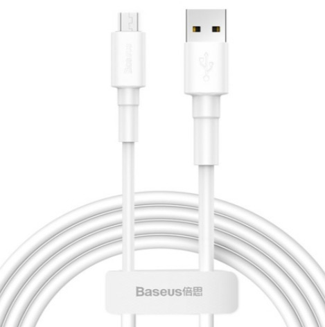 Кабель Baseus Mini White Cable USB - Micro USB, 2.4A, 1м (CAMSW-02)