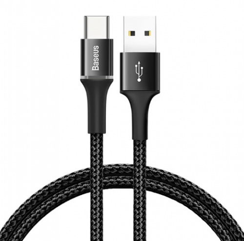 Кабель Baseus Halo Data Cable USB - Type-C 0.5м QC3.0 (CATGH-A01, CATGH-A09)