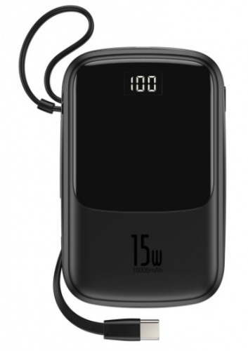 Внешний аккумулятор Baseus Q pow Digital Display 3A Power Bank 10000mAh (With Type-C Cable) (PPQD-A09, PPQD-A01, PPQD-A02)