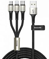 Кабель Baseus caring touch selection 1-in-3 USB cable (CAMLT-GH01, CAMLT-GH03, CAMLT-GH09) Micro USB - Lightning - Type-C, 1.2м