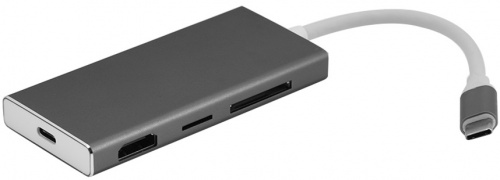 Адаптер 7 in 1 Type-C to HDMI USB-3 Type-C TF SD Card Adapter