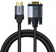 Кабель Baseus Enjoyment Series HDMI Male To VGA Male Adapter Cable (CAKSX-J0G) 1м