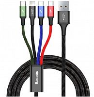 Кабель Baseus 4-in-1 Rapid Series Cable (CA1T4-B01) Type-C (2x) - Micro USB - Lightning 1.2м
