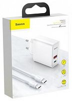 Сетевое зарядное устройство Baseus Speed PPS Quick Charger Adaptor, USB, Type C, QC 3.0(TZCAFS-A02)