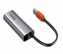 Адаптер Baseus Steel Cannon Series USB A Gigabit LAN Adapter (CAHUB-AD0G)