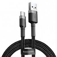 Кабель Baseus Cafule Cable USB For Type-C QC3.0 3A 0.5M (CATKLF-AG1)