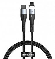 Кабель магнитный Baseus Zinc Magnetic Safe Fast Charging Data Cable Type-C to IP PD 20W 1m (CATLXC-01)