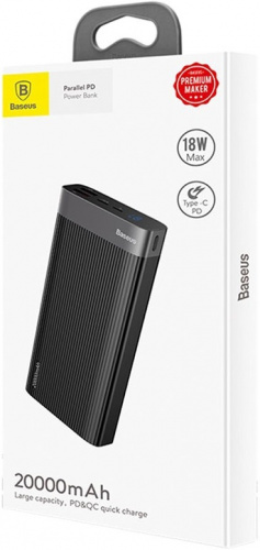 Внешний аккумулятор Baseus Parallel PD Quick Charge (BS-20KP201) 20000 mAh