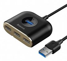 Адаптер Baseus Square Round 4 in 1 USB3.0 to USB3.0+3xUSB2.0 HUB Adapter (CAHUB-AY01)