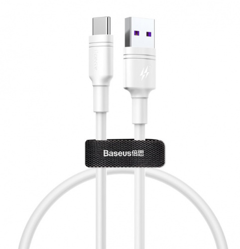 Кабель Baseus Double-ring Quick Charge Cable USB - Type-C 5A 1м (CATSH-B02)
