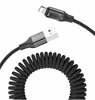 Кабель ROCK Stretchable Charge Synk Cable USB - Lightning 1.5М RCB0656