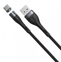 Магнитный кабель Baseus Zinc Magnetic Safe Fast Charging Data Cable USB - Type-C 5A 1м (CATXC-NG1, CATXC-N02)