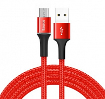 Кабель Baseus Halo Data Cable USB - Micro USB 1м QC3.0 (CAMGH-B01, CAMGH-B09)