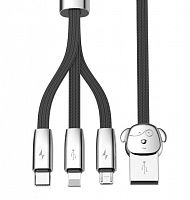 Кабель Baseus FuWang 3-in-1 Cable For IP+Micro+Type-C (CAMLT-AFW01) 1.2м