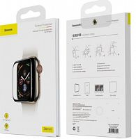 Защитное стекло Baseus Full-screen curved temperedglass soft screen protector для Apple Watch 1/2/3 38мм (SGAPWA4-E01) 0.2mm