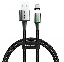 Кабель магнитный Baseus Zinc Magnetic Cable USB - Lightning 1.5A, 2м (CALXC-B01)