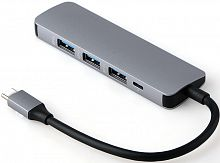 Адаптер  5 в 1 Type-C to USB 3.0 Hub 4 port