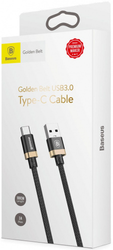 Кабель Baseus Golden Belt cable Type-C - USB 1.5м