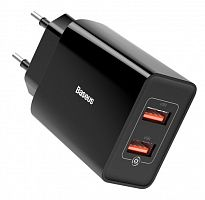 Сетевое зарядное устройство Baseus Speed Mini QC Dual U Quick Charger 18W EU (CCFS-V02, CCFS-V01)